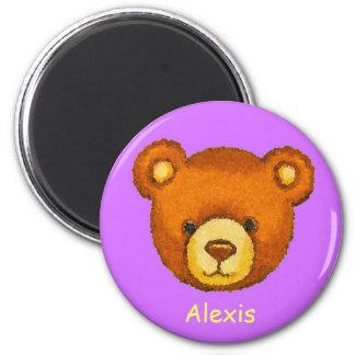 Teddy Bear Fridge Magnet ~ Custom Name