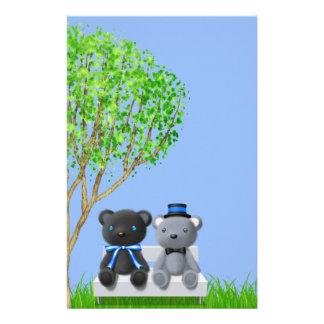 Teddy Bear Friends Boy Baby Shower Custom Stationery