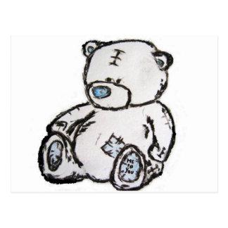 Teddy bear from the attic postcard