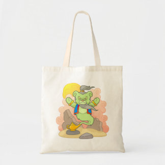 Teddy bear genie tote bag