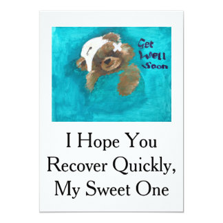 Teddy Bear Get Well Card