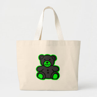 Teddy Bear Green Black The MUSEUM Zazzle Gifts Tote Bags