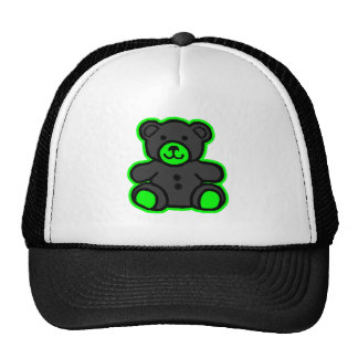 Teddy Bear Green Black The MUSEUM Zazzle Gifts Cap