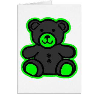 Teddy Bear Green Black The MUSEUM Zazzle Gifts Card