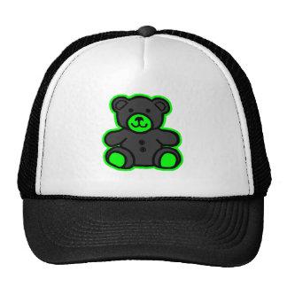 Teddy Bear Green Black The MUSEUM Zazzle Gifts Trucker Hats