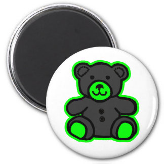Teddy Bear Green Black The MUSEUM Zazzle Gifts Magnets