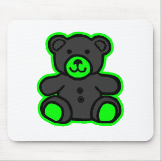 Teddy Bear Green Black The MUSEUM Zazzle Gifts Mousepad