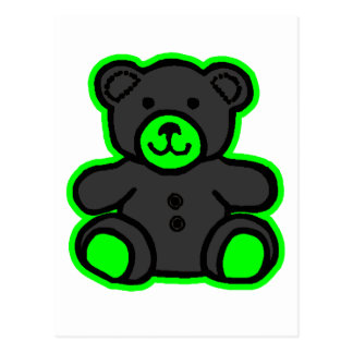 Teddy Bear Green Black The MUSEUM Zazzle Gifts Postcards