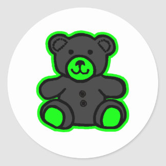Teddy Bear Green Black The MUSEUM Zazzle Gifts Stickers