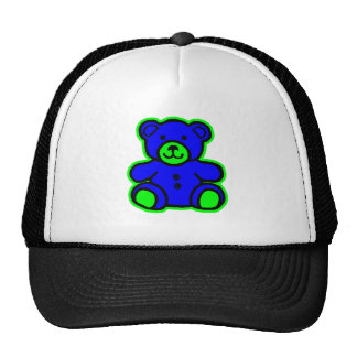 Teddy Bear Green Blue The MUSEUM Zazzle Gifts Cap