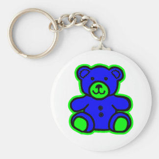 Teddy Bear Green Blue The MUSEUM Zazzle Gifts Keychains