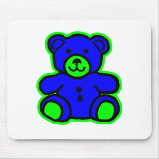 Teddy Bear Green Blue The MUSEUM Zazzle Gifts Mouse Pad