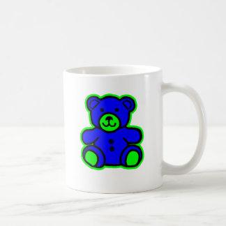 Teddy Bear Green Blue The MUSEUM Zazzle Gifts Coffee Mugs
