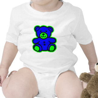 Teddy Bear Green Blue The MUSEUM Zazzle Gifts Tshirts