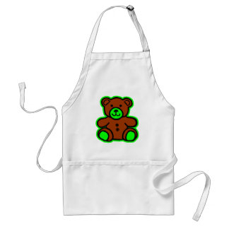 Teddy Bear Green Brown The MUSEUM Zazzle Gifts Apron