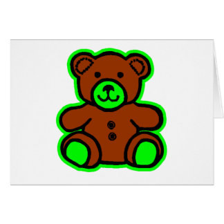 Teddy Bear Green Brown The MUSEUM Zazzle Gifts Greeting Card