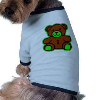 Teddy Bear Green Brown The MUSEUM Zazzle Gifts Doggie T Shirt