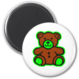 Teddy Bear Green Brown The MUSEUM Zazzle Gifts Magnets