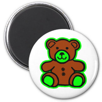Teddy Bear Green Brown The MUSEUM Zazzle Gifts Magnet