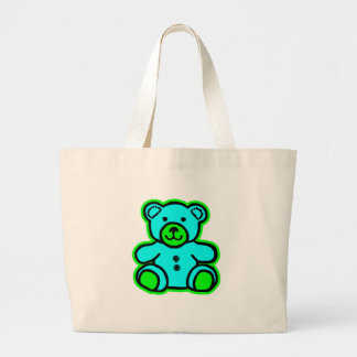Teddy Bear Green Cyan The MUSEUM Zazzle Gifts Tote Bags