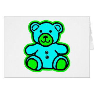Teddy Bear Green Cyan The MUSEUM Zazzle Gifts Card