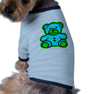 Teddy Bear Green Cyan The MUSEUM Zazzle Gifts Pet Clothes