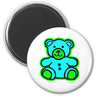 Teddy Bear Green Cyan The MUSEUM Zazzle Gifts Magnets