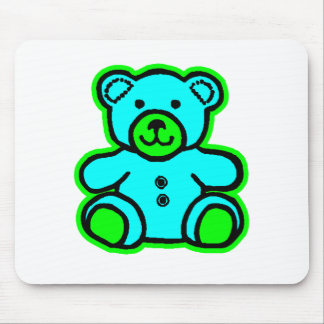 Teddy Bear Green Cyan The MUSEUM Zazzle Gifts Mouse Pads