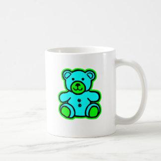 Teddy Bear Green Cyan The MUSEUM Zazzle Gifts Coffee Mug