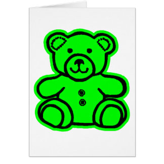 Teddy Bear Green Green The MUSEUM Zazzle Gifts Cards