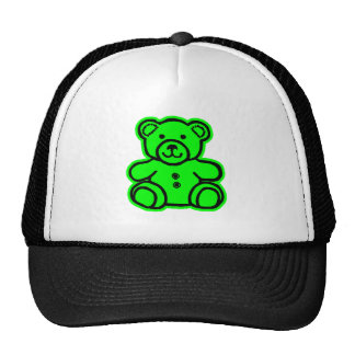 Teddy Bear Green Green The MUSEUM Zazzle Gifts Trucker Hats