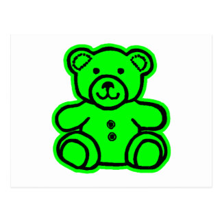 Teddy Bear Green Green The MUSEUM Zazzle Gifts Postcard