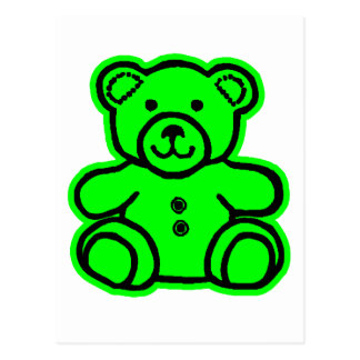 Teddy Bear Green Green The MUSEUM Zazzle Gifts Post Cards