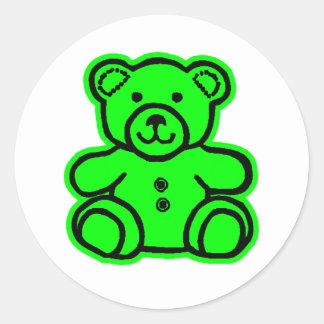 Teddy Bear Green Green The MUSEUM Zazzle Gifts Sticker