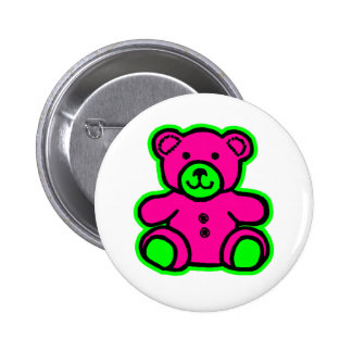 Teddy Bear Green Magenta The MUSEUM Zazzle Gifts Pin