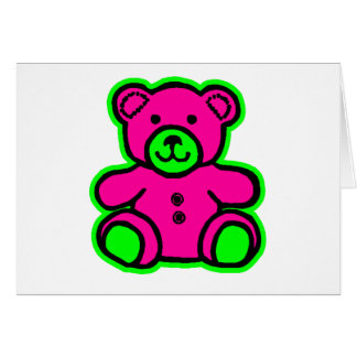 Teddy Bear Green Magenta The MUSEUM Zazzle Gifts Greeting Cards