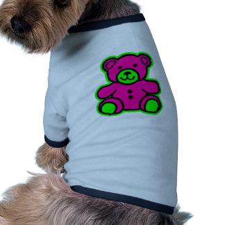 Teddy Bear Green Magenta The MUSEUM Zazzle Gifts Doggie T-shirt