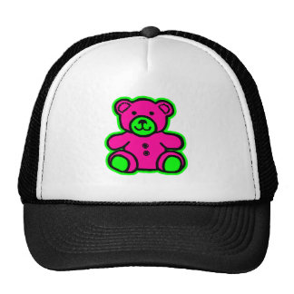 Teddy Bear Green Magenta The MUSEUM Zazzle Gifts Mesh Hat