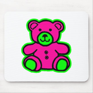 Teddy Bear Green Magenta The MUSEUM Zazzle Gifts Mousepad