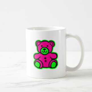 Teddy Bear Green Magenta The MUSEUM Zazzle Gifts Mugs