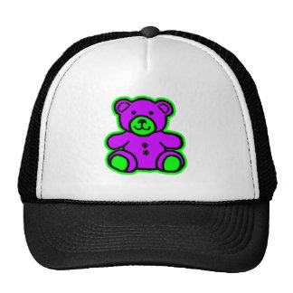 Teddy Bear Green Purple The MUSEUM Zazzle Gifts Mesh Hats