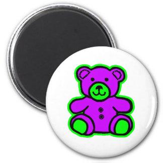 Teddy Bear Green Purple The MUSEUM Zazzle Gifts Fridge Magnets