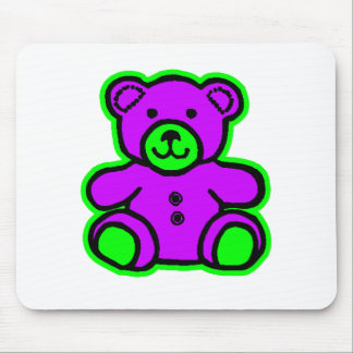 Teddy Bear Green Purple The MUSEUM Zazzle Gifts Mouse Pad