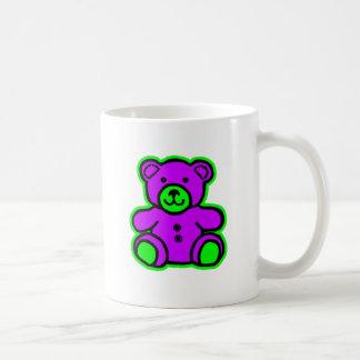 Teddy Bear Green Purple The MUSEUM Zazzle Gifts Mug