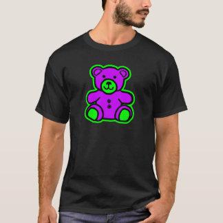 Teddy Bear Green Purple The MUSEUM Zazzle Gifts T-Shirt