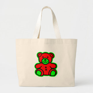 Teddy Bear Green Red The MUSEUM Zazzle Gifts Bag