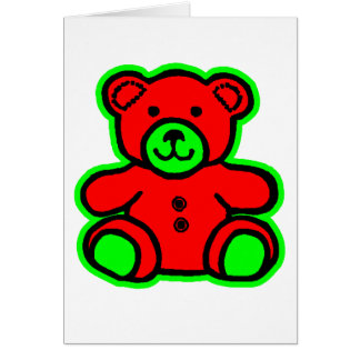 Teddy Bear Green Red The MUSEUM Zazzle Gifts Greeting Cards