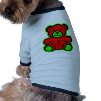 Teddy Bear Green Red The MUSEUM Zazzle Gifts Pet Shirt