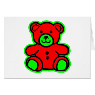 Teddy Bear Green Red The MUSEUM Zazzle Gifts Greeting Card