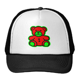 Teddy Bear Green Red The MUSEUM Zazzle Gifts Trucker Hats